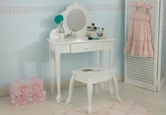 Wondrous White Vanity Stool Set For Girls Caraccident5 Cool Chair Designs And Ideas Caraccident5Info