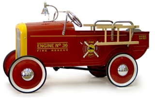 32 Ford Roadster Fire Engine Pedal Car - Toddlers Treasures
