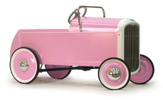 32 Ford Roadster Pink Ride-on Pedal Car - Toddlers Treasures