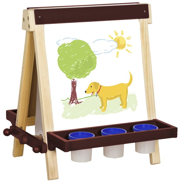 Wooden Tabletop Easel For Children Toddlers Treasures